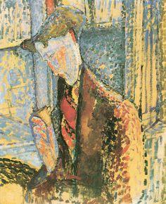 "Amedeo Modigliani - ""Bildnis Frank Burty Haviland"" 1914, 62,2 × 49,4 cm"