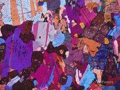 Gabbro rock, polarised light micrograph by Science-Photo-Library - CafePress Mineralogy, Science Photos, Abstract Landscape, Photo Library, Find Art, Fractals, Framed Artwork, Design Art, Texture