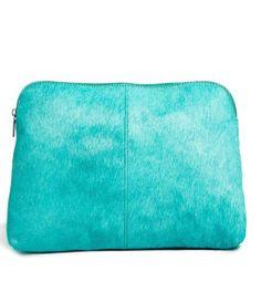 aqua zipper pouch