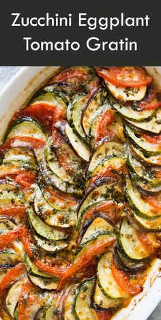 Summer zucchini, eggplant, and tomatoes, beautifully presented in a baked casserole gratin! Top w/ parmesan cheese, pasta sauce.Crowd Pleasing Vegetable Casseroles Cheesy Broccoli Casserole Broccoli Cauliflower Casserole The Ultimate Squash Casserole Gluten Free Recipes For Dinner, Healthy Dinner Recipes, Vegetarian Recipes Puff Pastry, Plant Based Dinner Recipes, Simple Vegetarian Recipes, Vegan Recipes Plant Based, Healthy Food Blogs, Lunch Recipes, Healthy Lifestyle