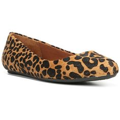 Dr. Scholl's Really Women's Leopard Print Ballet Flats ($75) ❤ liked on Polyvore featuring shoes, flats, brown oth, brown pointed toe flats, leopard print shoes, ballet flats, leopard ballet flats and brown leather shoes