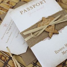 Passport Wedding Invitation features sea turtles around your names and sLTqxMqe