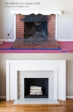 #23. Give your fireplace a facelift! -- 27 Easy Remodeling Projects That Will Completely Transform Your Home