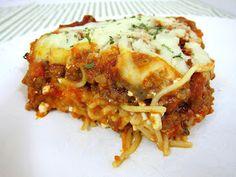 Gluten Free* Spaghetti Casserole (use GF pasta)