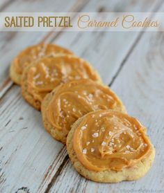Salted Pretzel Caramel Cookies ~ Tis the season for baking! It's easy to make and only requires a few ingredients.