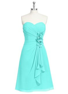 Tons of different dresses in the same color! That way everyone gets to pick their own style and still match