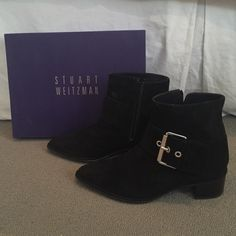 Stuart Weiztman suede ankle boots Worn only once Stuart Weitzman black suede ankle boots! Stuart Weitzman Shoes Ankle Boots & Booties