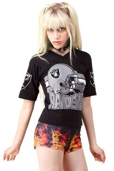 1990's Raiders Crop Top - XS