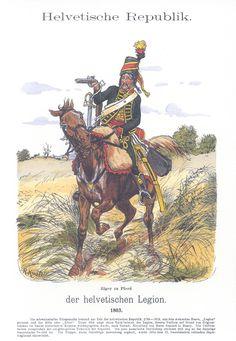 Vol 17 - Pl 24 - Helvetische Republik: Jäger zu Pferd der helvetischen Legion. 1803.