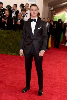 Ansel Elgort in Tom Ford. See all the looks from the 2015 Met gala.