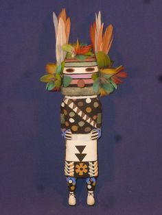 "REMARKABLE OLD STYLE HOPI INDIAN ""BEAN"" KACHINA BY AWARD WINNER BRIAN HOLMES"