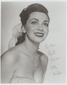Pretty Kitty Kallen, vocalist with the Jimmy Dorsey and Harry James bands and a solo artist.