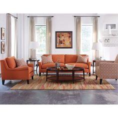Sunbrella Tuscan Orange Upholstered Casual Sofa