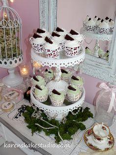 Vintage Wedding Cupcakes by Karen's kakes, via Flickr
