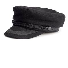 Black Wool Fashion Captain Cap ($15) ❤ liked on Polyvore featuring accessories, hats, walktrendy, woolen cap, black wool cap, woolen hat, wool cap and caps hats