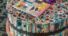 Artesanatos com Revistas Usadas