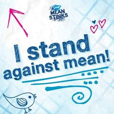 Anti-Bullying Awareness Month may be over, but Ganging Up for Good is something you do year round. Re-pin this if you will stand against mean all year! #gangupforgood