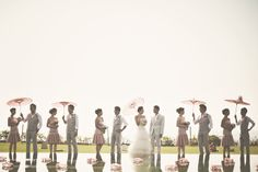 Guys with parasols, ladies with flowers • Tinydot Photography