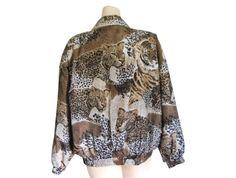 Tiger Jacket Petite Clothing 90s Bomber by #ShineBrightVintage