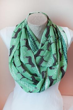 Donkey Scarf Animal Infinity Scarf Christmas Gifts For Her For