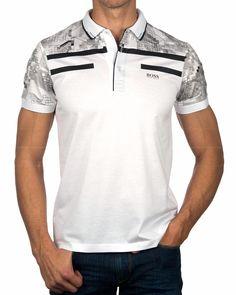 Polos HUGO BOSS ® Blanco - Paule 3 | ENVIO GRATIS Polo Nike, Nike Polo Shirts, T Shirt Polo, Womens Golf Shirts, Boss Shirts, T Shirts For Women, Polo Shirt Style, Camisa Polo, Man Fashion