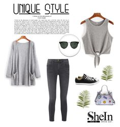 """""""Shein 3"""" by zerina913 ❤ liked on Polyvore featuring The Great, Converse, Spitfire, Pier 1 Imports and shein"""