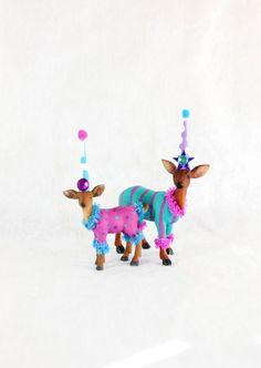 Deer Cake & Cupcake Topper Set by PaintedParade on Etsy