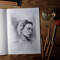 yesterday drawing full view #drawing #pencil #sketchbook #sketch #woman #rum #art #arts_help #theartslovers #freshart #baigart #artistic_support #instartpics #artsharepage
