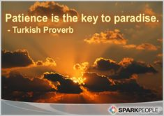 #Patience is the key! Good things take time :)   via @SparkPeople #inspiration #motivation #motivationalquote