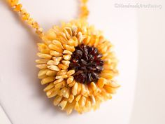 Necklace Pendant Star with Baltic Sea Amber - Succinite - Authored Design Handmade Lovely Cute Elegant Exclusive Charming Beauty BIZ1439