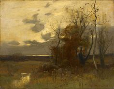 John Francis Murphy (American, 1853-1921) Autumn Landscape, 1905 Oil on canvas, 9-1/2 x 11-3/4 in.