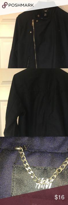 H&M Mens Black Jean Jacket size 38R H&M Mens Black Jacket size M front zipper and snaps 4 pockets H&M Jackets & Coats Bomber & Varsity