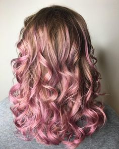 My client came in needing a root shade and after seeing all our fun hair at the salon decided to do pink ends. Love this dusty rose color using @joico @joicointensity #coloradospringshairstylist .