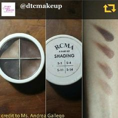 Reposting the swatches of the RCMA Shading Kit perfect for contouring! Pls note bronzing and contouring are two different things for contour you need a muddy grey shade you don't want to end up looking like you have a misplaced bronzer right? ;) Php1300 per kit available via www.dtcmakeup.com and in our Ortigas boutique (complete address in profile)