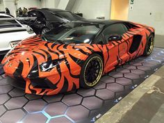 this awesome bengal Lamborghini is just AWESOME and probably expensive for the paint job and that Lamborghini it's self is expensive, and GO BENGALS.