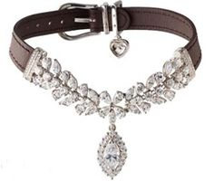 La Jeune Tulipe Diamond Dog Pet Collar - Wow.  This is a $150K dog collar.  We can get houses here in Louisiana for that. LOL  My dog doesn't seem nearly as spoiled now...