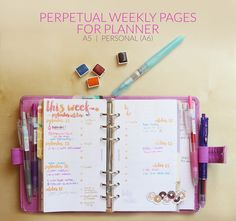 It has been a while since I made a new weekly printable for the planners. So here is a new design. This one is based on the Spring version released a few months ago, which can be downloaded from th...