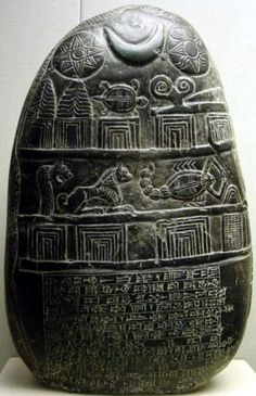 Large Babylonian stele showing the holy triad. Ishtar, Sin, Shamash.. that is morning star(venus), lunar(moon cresent), solar disk(sun). All life giving and taking forces.. it is obvious that these Mesopotamian agricultural civilizations were aware of this.