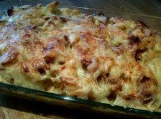 Gratinert pastaform Tacos, Pasta, Ethnic Recipes, Food, Gratin, Lasagna, Essen, Noodles, Yemek