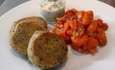 Hier finden Sie ein veganes Low Carb Rezept für die Zubereitung von Ayurvedischen Kichererbsen-Talern mit Koriander-Dip.