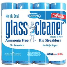 Sprayway Glass Cleaner Clean Mirror Window Aerosol Spray for sale online Best Window Cleaner, Best Glass Cleaner, Homemade Glass Cleaner, Ammonia Free Glass Cleaner, Clean Windshield, Mirror Backsplash, Spray Foam, Clean House, Smudging
