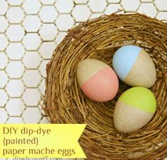 dip dyed paper mache egg tutorial