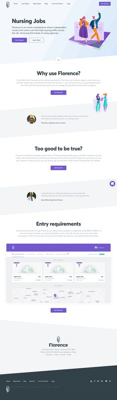 Find part time nursing jobs and nursing home care assistant jobs with Florence, the easy way to book care home shifts. Stay in control of your time and pay. Best Landing Page Design, Landing Page Examples, Job Website, Website Themes, Website Designs, Book Care, Assistant Jobs, Nursing Jobs, Web Design Inspiration