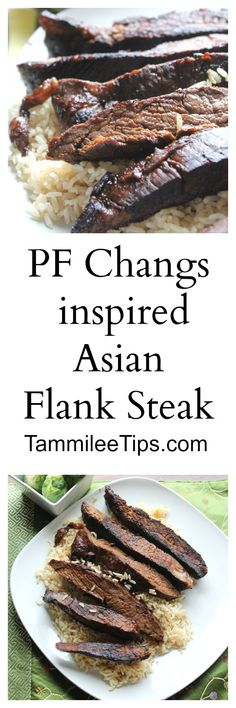 PF Changs inspired Asian Flank Steak paired with Brussell Sprouts. Bring PF Changs home with this great copy cat recipe.