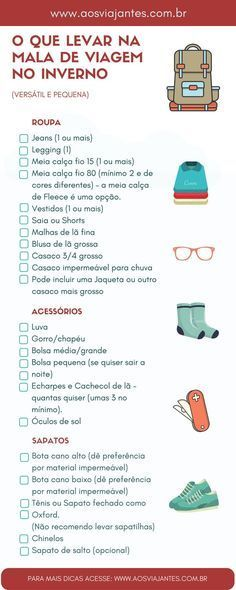 What to pack in the winter suitcase (versatile and small .- O que levar na mala de viagem no inverno (versátil e pequena) New Travel, Travel Goals, Travel Packing, Travel Style, Travel Checklist, Travel Essentials, Travel Guide, Vacation Planner, Vacation Destinations