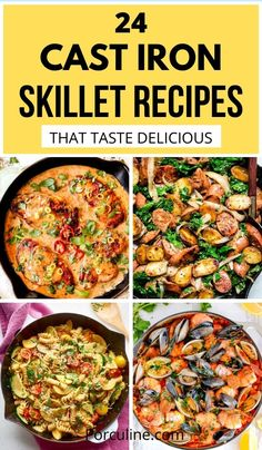 Cast Iron Skillet Cooking, Best Cast Iron Skillet, Easy Skillet Meals, Iron Skillet Recipes, Cast Iron Recipes, Easy Meals, Iron Diet, Cast Iron Cookbook, Quick Dinner Recipes