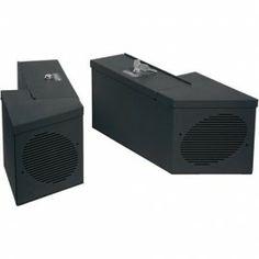 Tuffy Speaker & Storage Lockbox Set with Roll Bar Cutout Black
