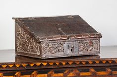 Tiny Elizabethan writing slope, circa 1580 - 1600. Marhamchurch antiques