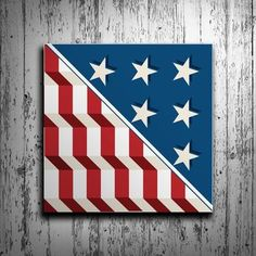 Patriotic American Flag Barn Quilt