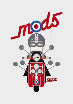 We are the Mods Mod Scooter, Lambretta Scooter, Vespa Scooters, Motorcycle Posters, Motorcycle Art, Vespa Illustration, Pop Art Images, Classic Vespa, Vespa Girl